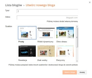 blogger wlasny blog