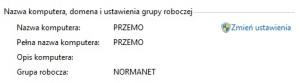 nazwa komputera i grupa robocza