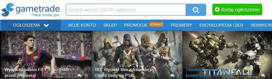 gametrade wyszukiwarka