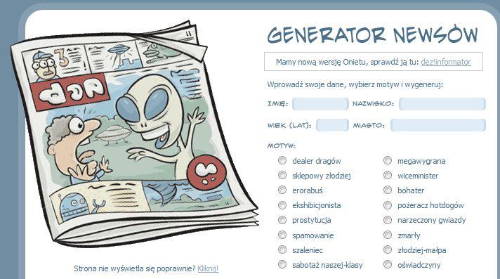 generator smiesznych historii