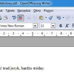 Sprawdzanie pisowni w Open Office. Jak włączyć podkreślanie błędów w pakiecie OO?