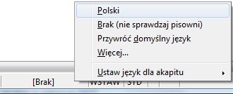 Sprawdzanie pisowni w Open Office