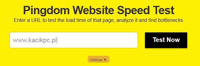 test szybkosci ladowania www
