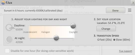 flux automatyczne oswietlenie