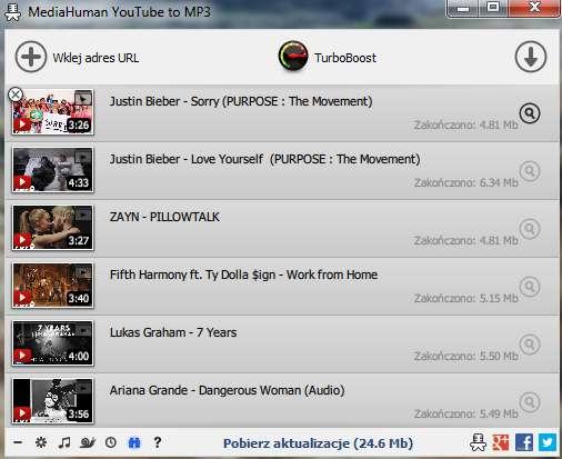 pobieranie playlisty z youtube
